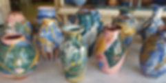 Summer blues vases made for well walk po