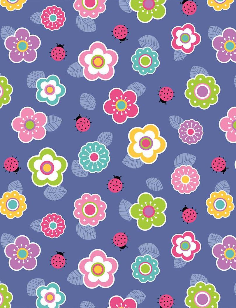 Lock Journal - Flowers & Ladybugs