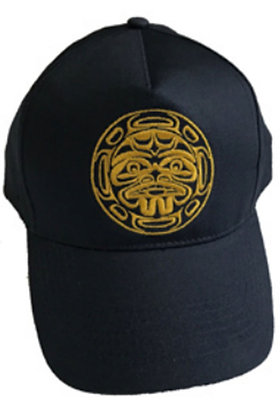 Embroidered Cap (Navy Blue) - Yellow Moon