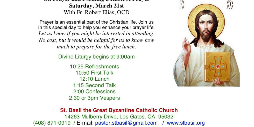 Cancelled - Day Retreat on Prayer