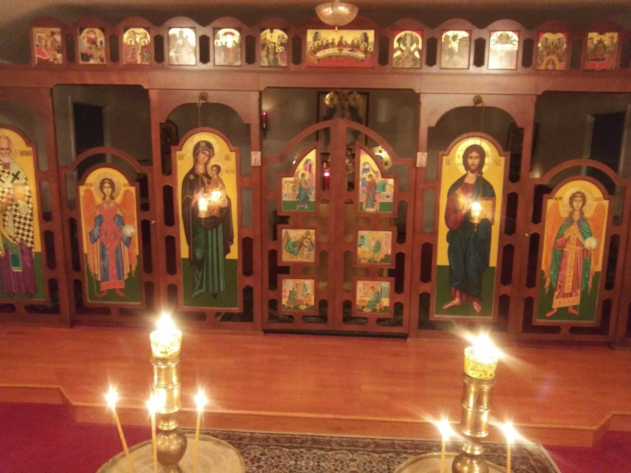 Iconostasis and candles
