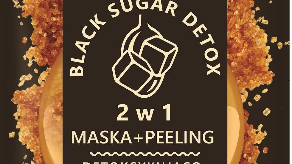 BLACK SUGAR DETOX 2в1 Детоксицирующая и очищающая маска + скраб, для смешанной и