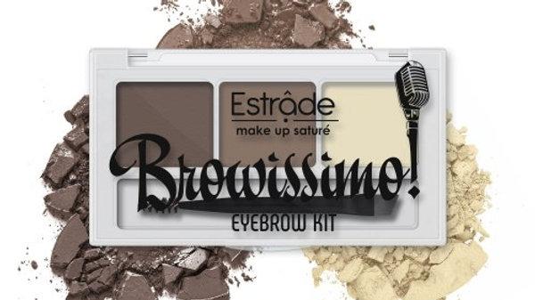 Набор для макияжа бровей  Browissimo 2 оттенка+воск 103