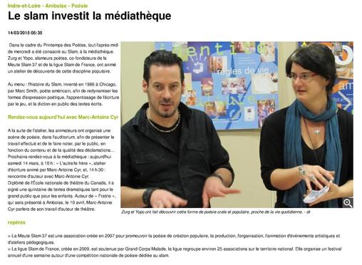 Le slam investit la médiathèque - 14_03_