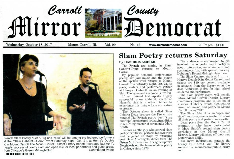 article Zurg et Yopo Cabaret Slam Mont C