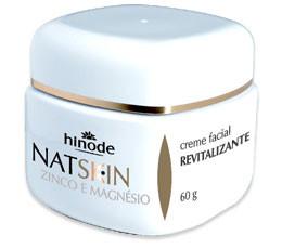Creme revitalizante com zinco e magnésio Nat Skin
