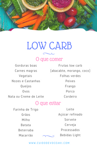 O que comer e o que evitar na low carb