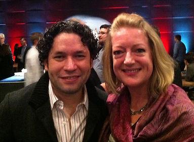 Gustavo Dudamel and Tracy Van Fleet