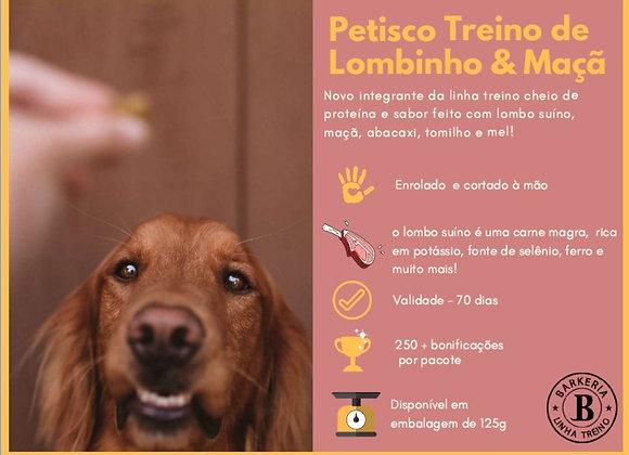 PETISCO TREINO DE LOMBINHO, MAÇÃ E MEL - 125G
