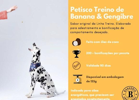 PETISCO TREINO DE BANANA COM GENGIBRE - 125G