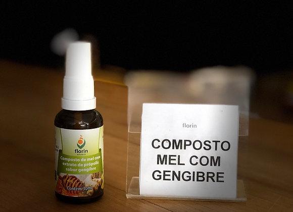 SPRAY DE PRÓPOLIS - 30ml - MEL COM GENGIBRE