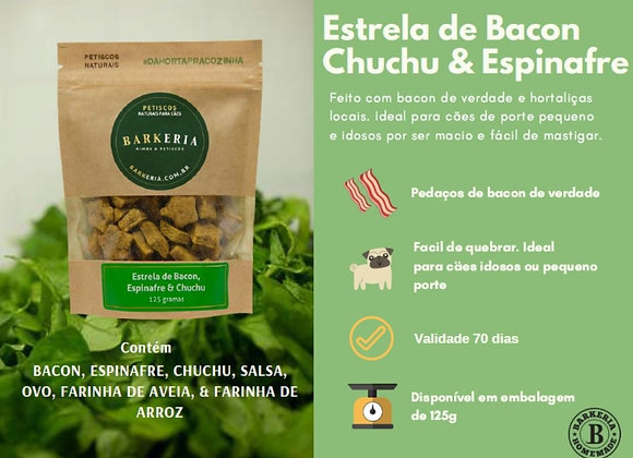 ESTRELA DE BACON, ESPINAFRE E CHUCHU - 125G