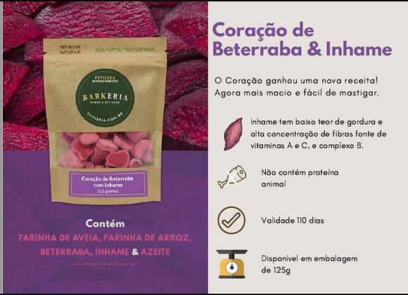 CORAÇÃO DE INHAME COM BETERRABA - 125G