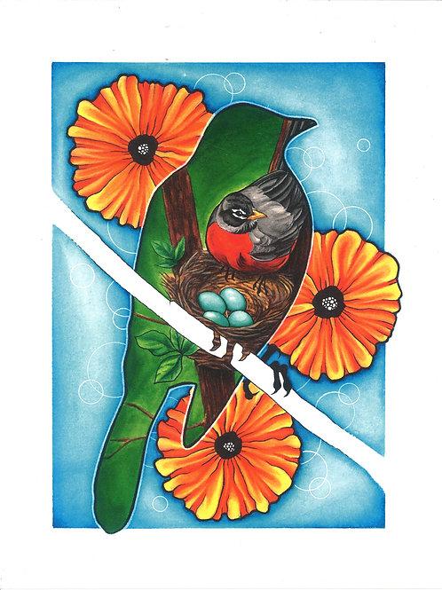 Father Bird Print