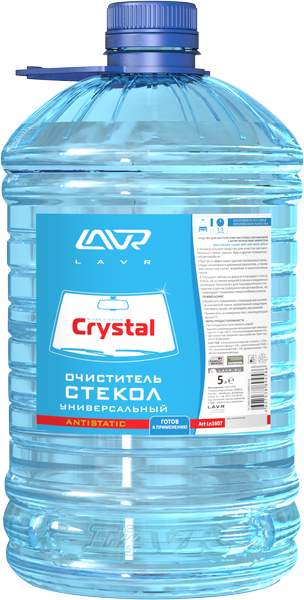Очиститель стекол кристалл LAVR Glass Cleaner Crystal Antistatic 5л./Ln1607