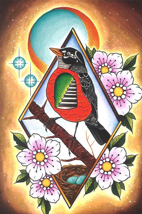 Mother Bird Print