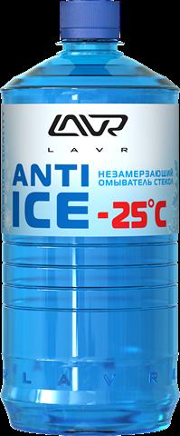 Незамерзающий омыватель стекол LAVR Anti Ice -25°C, 1 л/Ln1310