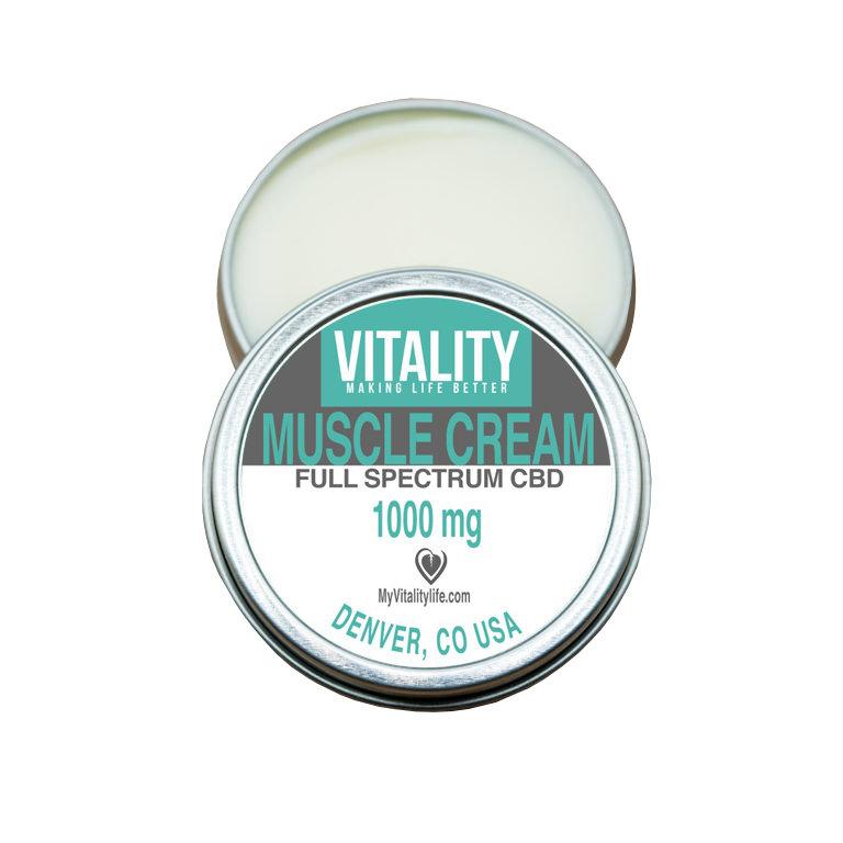 Muscle Cream 1000mg | Vitality CBD
