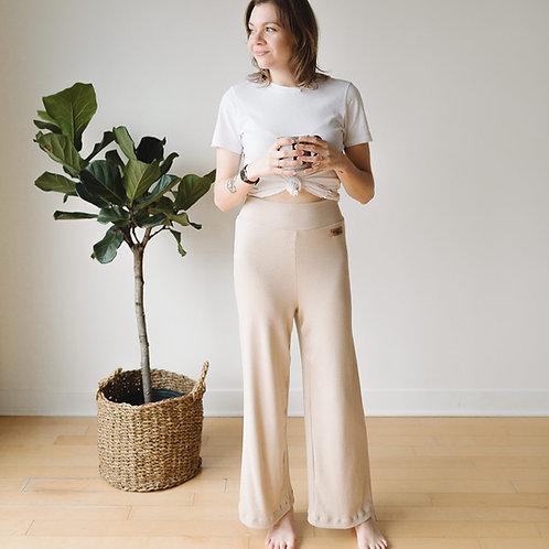 Pantalons cozy ivoire / Ivory cozy pants