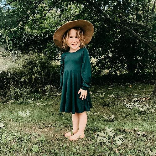 Robe émeraude enfant