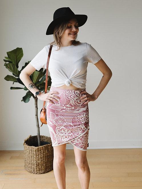 Jupe 2 en 1 rose à pompons / Pink skirt 2 in 1 with pompoms