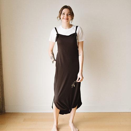 Robe-salopette brune / Brown overall-dress