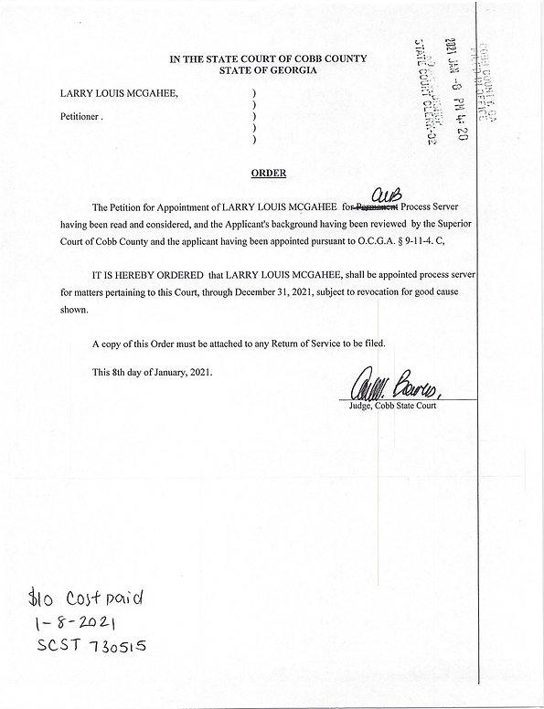 Cobb State Court Process Server