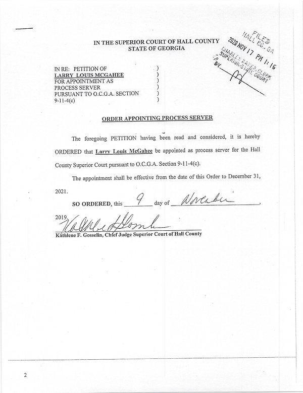 Hall County Superior Court Process Server