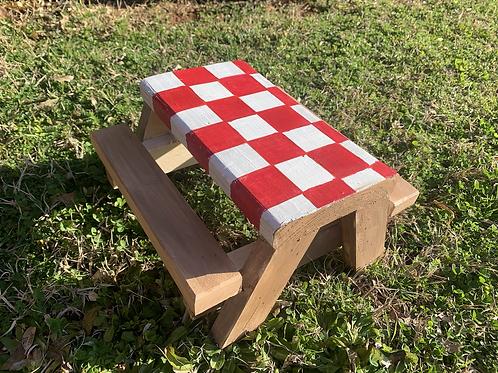 Custom Squirrel Picnic Table