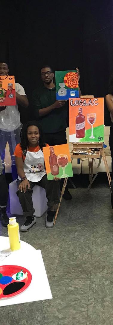 Wine Glasses & Art Classes
