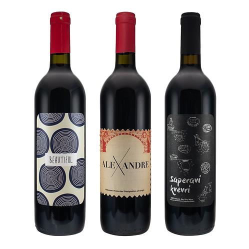 დეგუსთეითი - წითელი ღვინის ნაკრები
