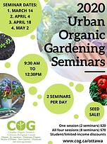 Urban Organic Gardening Seminars