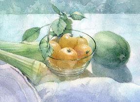 「初夏の光」水彩画