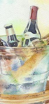 水彩画「ワインクーラー 」