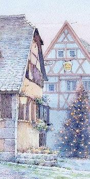 水彩画「クリスマスイブ」