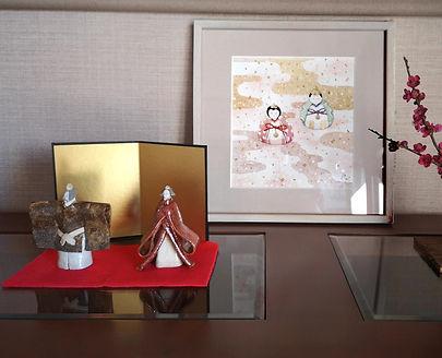 知人のお部屋に飾っていただいた水彩画