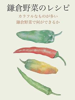 「鎌倉野菜のレシピ」料理雑誌の表紙を想定したサンプル