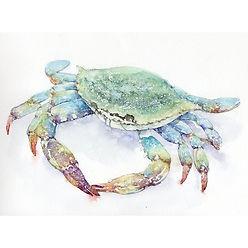 動物・生き物「蟹」水彩画・福井良佑