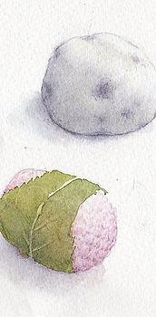 水彩画「和菓子」