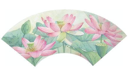 和風イラスト「蓮華 」 :水彩画・福井良佑