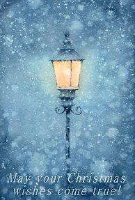 Warm Snow 水彩画:雪の中の明かり