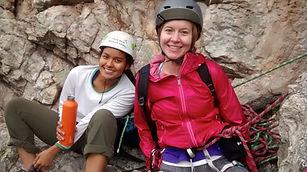 Womens Trad Climbing