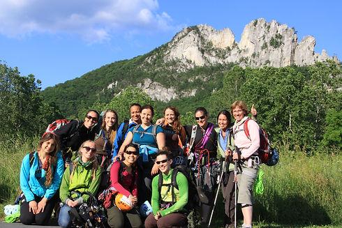 Womens Rock Climbing Seneca Rocks,WV