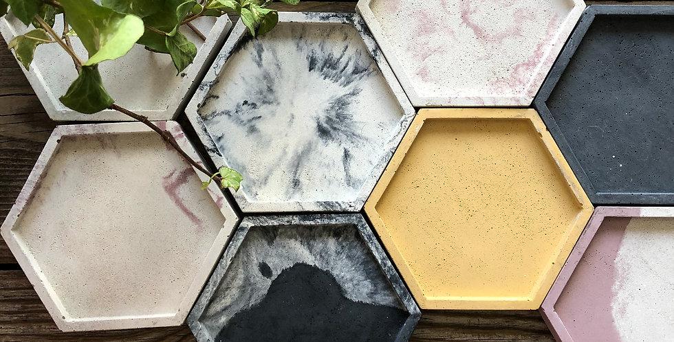 Sous verre hexagone