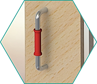 Clip-on clipped onto doorhandle