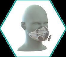 Respirator face mask model