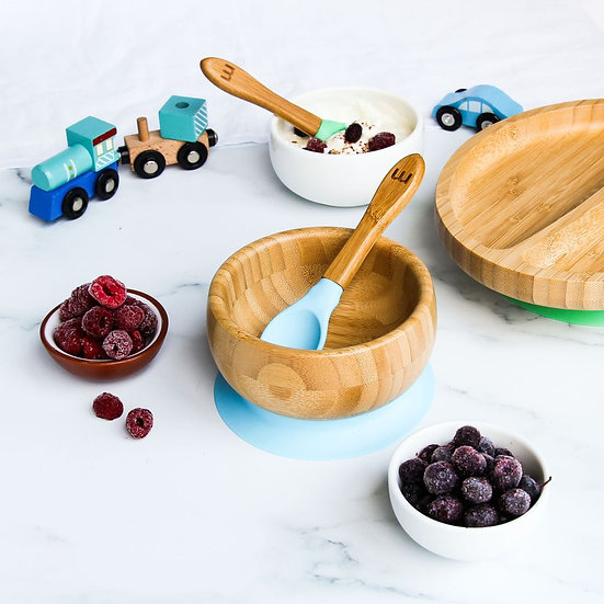 Munch Eco Hero Suction Base Bowl & Spoon