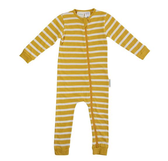 Woolbabe Merino/Organic Cotton Pyjama Suit - Kowhai