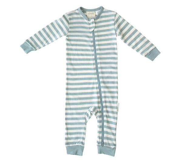 Woolbabe Merino/Organic Cotton Pyjama Suit - Tide