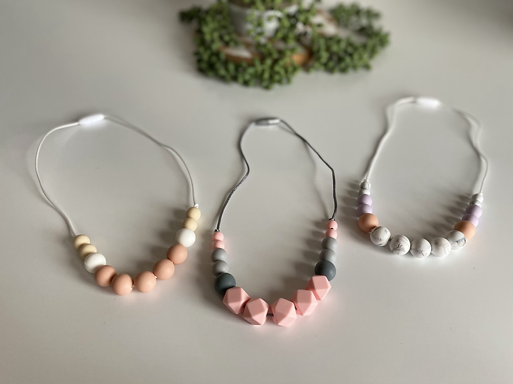 Gummy Beads Teething Necklace